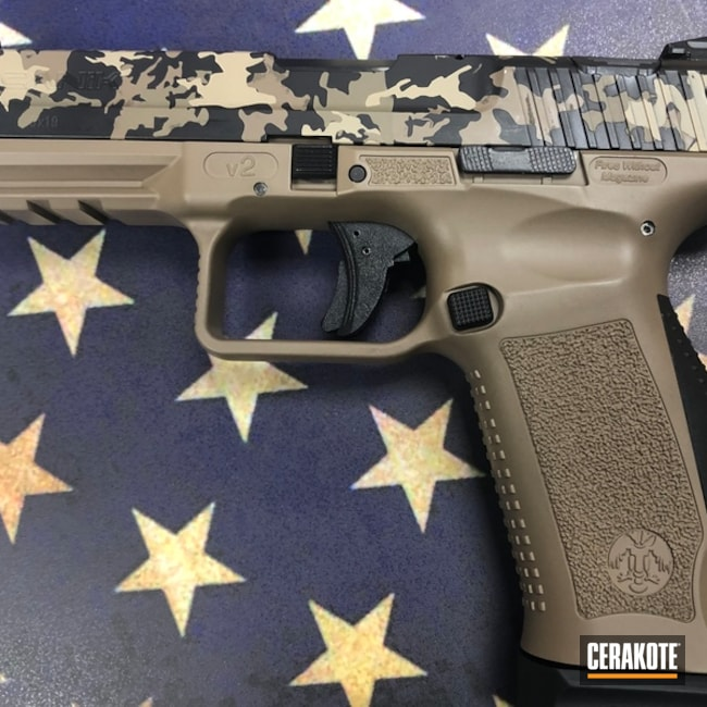 "Thumbnail image for project ""Cerakote MultiCam on this Canik Handgun"""