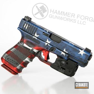 Cerakoted American Flag Cerakote Glock 19