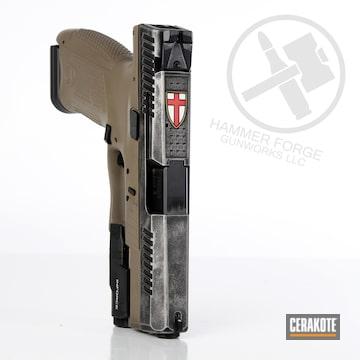 Cerakoted Cz P10c Knights Templar Handgun