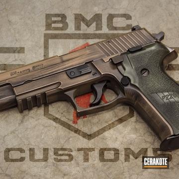Cerakoted Distressed Sig Sauer P226 Handgun