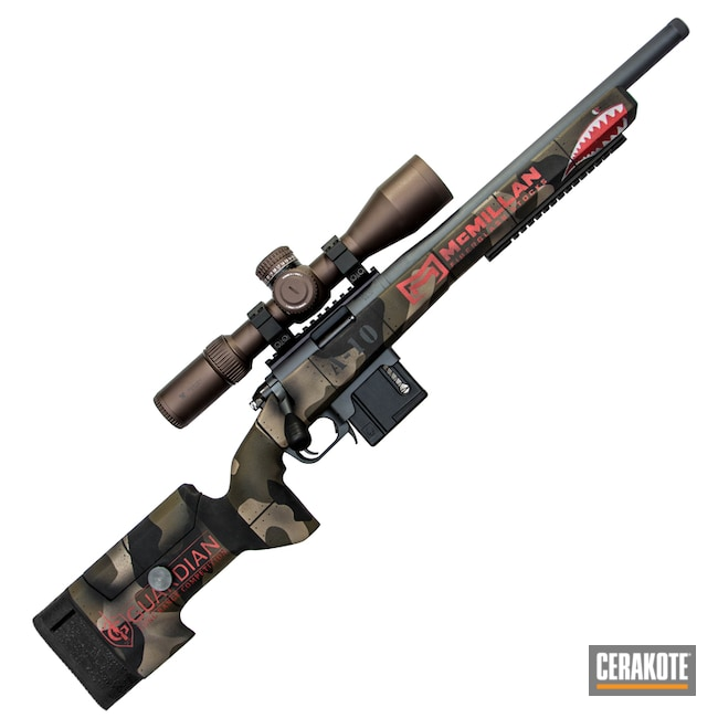 Fighter Plane Graphics on this Bolt Action Rifle