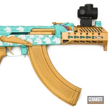 Cerakoted Unicorn Themed Ak Pistol