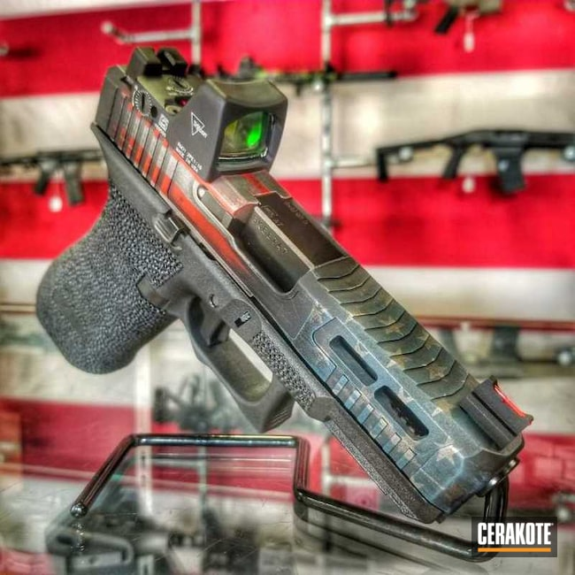"Thumbnail image for project ""Custom Glock Handgun with an Cerakote American Flag Finish"""