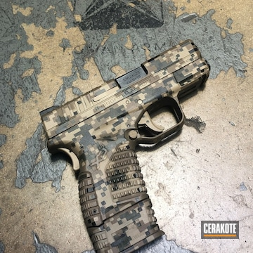 Cerakoted Cerakote Marpat Camo On This Springfield Handgun