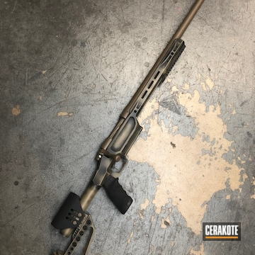 Cerakoted Remington 700 Bolt Action Rifle In A Battleworn Cerakote Finish