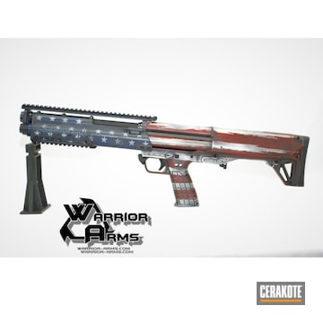 Cerakoted Kel-tec Ksg Shotgun In A Cerakote American Flag Finish