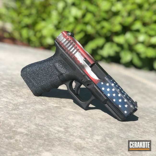 Cerakote American Flag Finish on this Glock 19