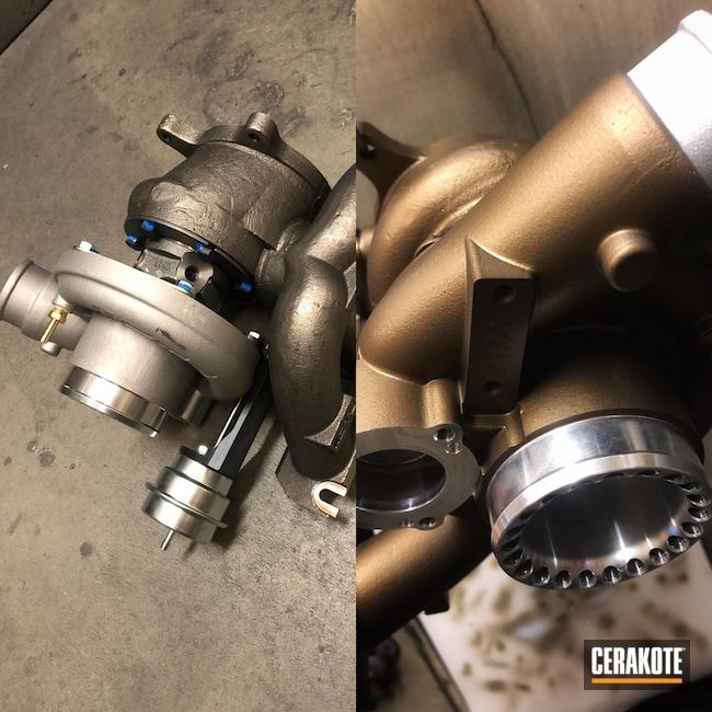 Cerakoted: Burnt Bronze H-148,More Than Guns,Automotive,Turbo Housing,Turbo