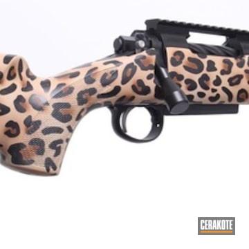 Cerakoted Custom Leopard Print Bolt Action Rifle