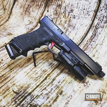 Cerakoted Glock 17l In Cerakote Elite Blackout And Midnight