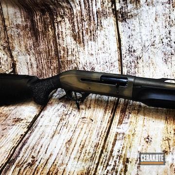 Cerakoted Benelli M2 20 Gauge Shotgun In A Cerakote Distressed Finish