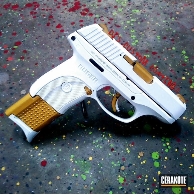 Two Toned Gold and White Ruger Handgun