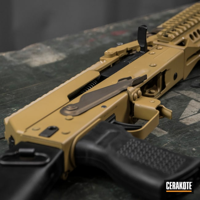 AK Rifle in H-8000 and H-148 Burnt Bronze