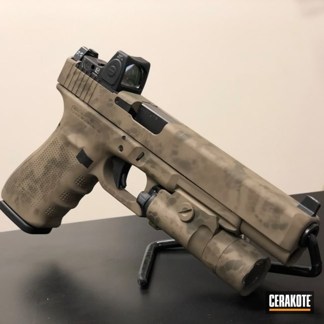 Glock 40 in a Custom Camo Finish