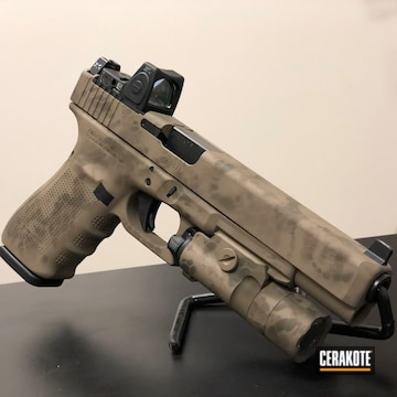 Cerakoted Glock 40 In A Custom Camo Finish