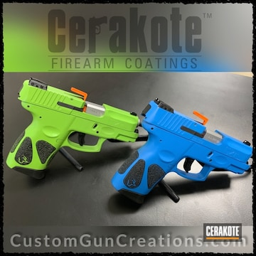 Cerakoted H-168 Zombie Green And H-172 Sea Blue