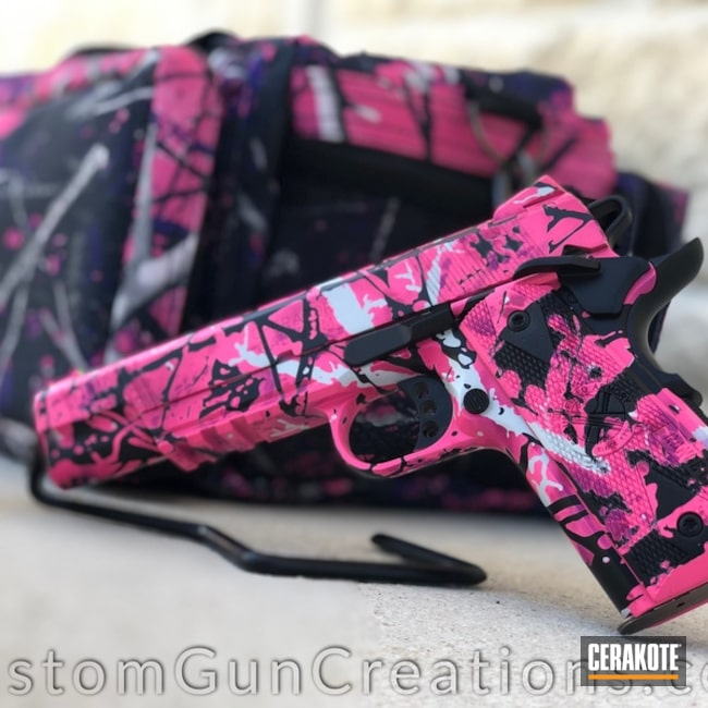 "Thumbnail image for project ""1911 Handgun with Muddy Girl Camo Pattern"""