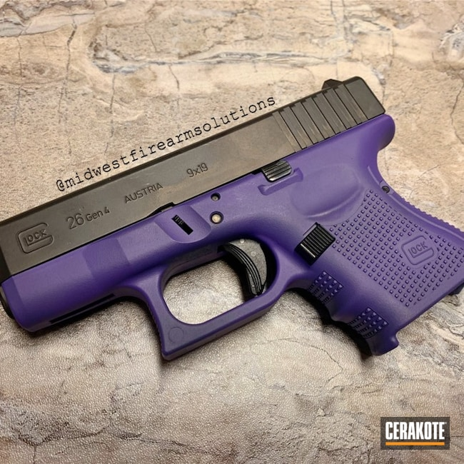 Glock 26 Frame with Cerakote H-217 Bright Purple