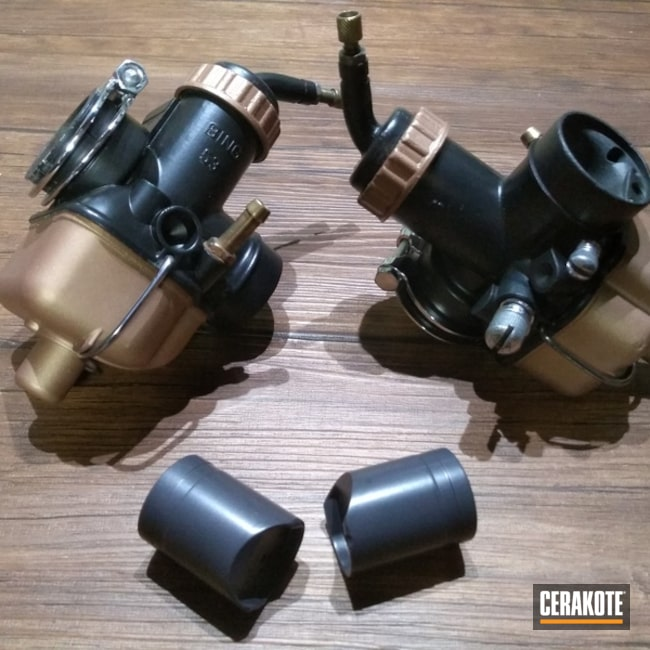 Cerakoted Pistons and Engine Parts