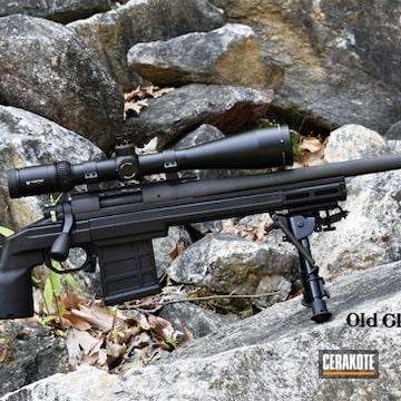 Cerakoted Remington 700 Bolt Action Rifle Cerakoted With H-112 Cobalt