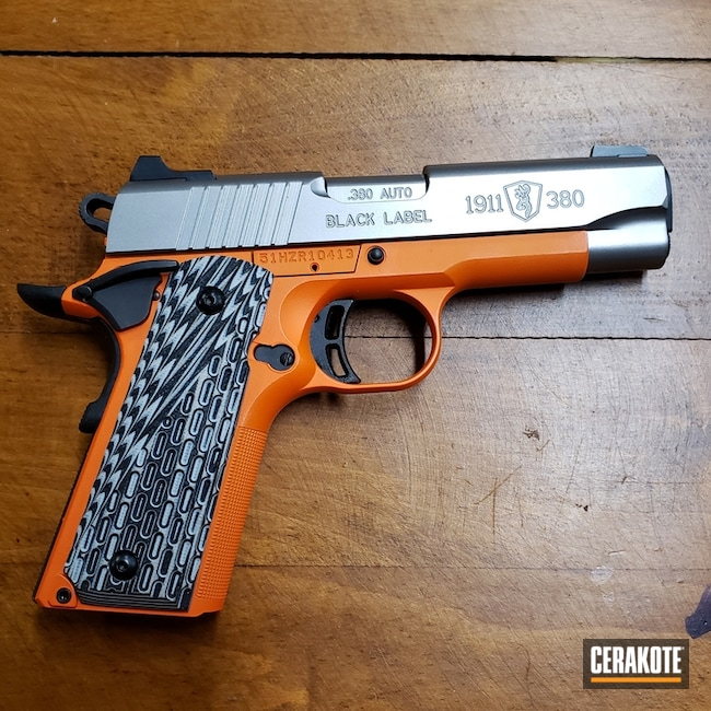 Browning 1911-380 Handgun with Cerakote Hunter Orange