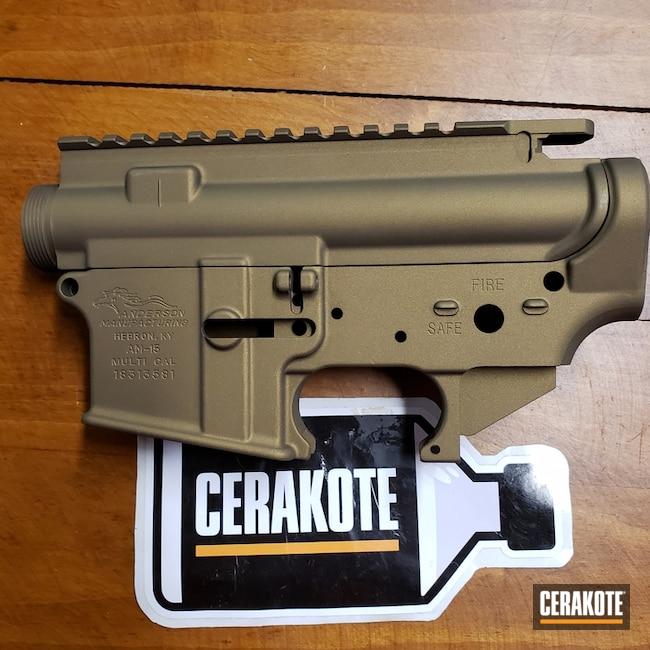 Cerakoted: Upper / Lower,Anderson Mfg.,Graphite Black H-146,Two Tone,Burnt Bronze H-148,AR-15
