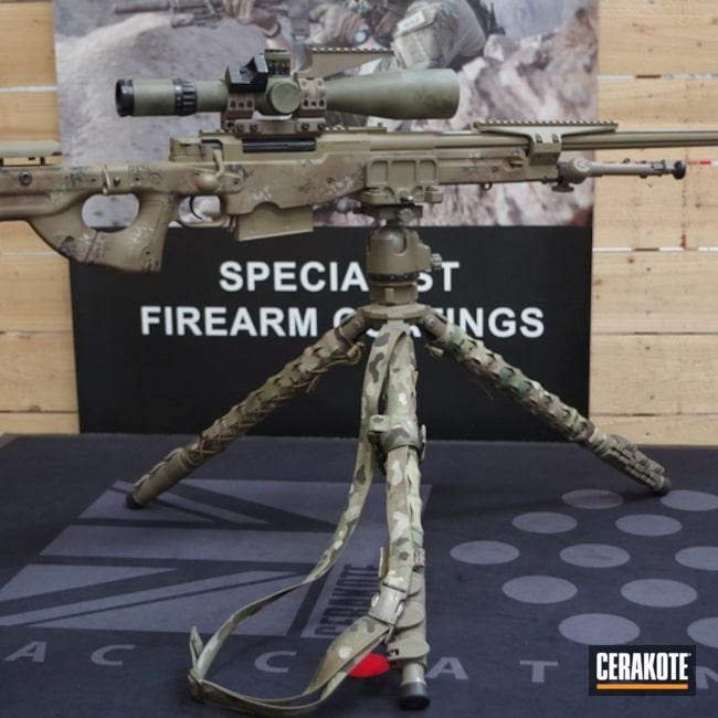 Cerakoted: Bolt Action Rifle,Desert Sage H-247,Graphite Black H-146,Patriot Brown H-226,Gen II Flat Dark Earth HIR-265,Custom Camo