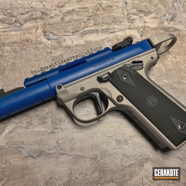 "Thumbnail image for project ""Ruger Mark IV Handgun with Cerakote Sky Blue and Titanium"""