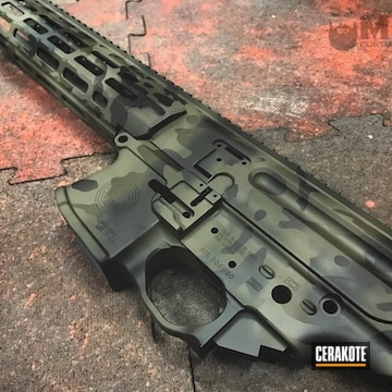 Cerakoted Sig Sauer Mpx With Perfectly Matched Multicam Colors / Patterns