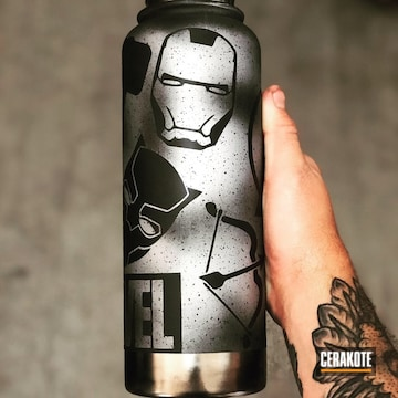 Cerakoted Avengers Themed Hydro Flask