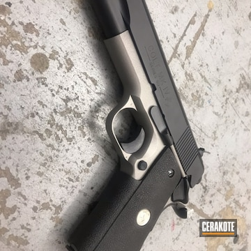 Cerakoted Two Toned Colt 1911 Using Cerakote Graphite Black And Titanium
