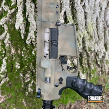 Cerakoted H-267 Magpul Flat Dark Earth, H-226 Patriot Brown And H-236 O.d. Green