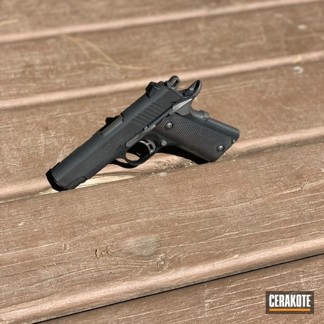 Browning 1911 with Cerakote Tungsten Finishing