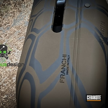 Cerakoted Shotgun In A Cerakote Kryptek Finish