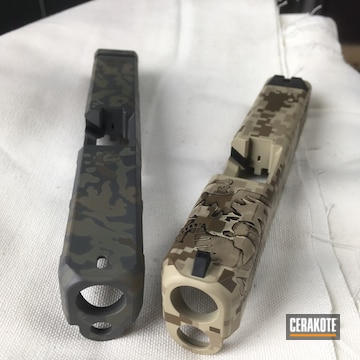 Cerakoted Custom Marine Corp Themed Slides