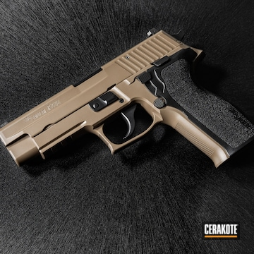 Cerakoted Two Toned Sig Sauer P226 In Cerakote Elite Blackout And Fde