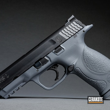 Cerakoted Two Toned Smith & Wesson M&p Handgun Using Cerakote H-262 Stone Grey
