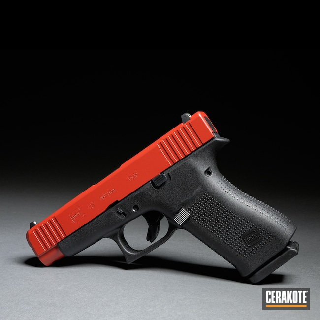 Cerakoted Glock 48 Slide Finished With H-221 Crimson