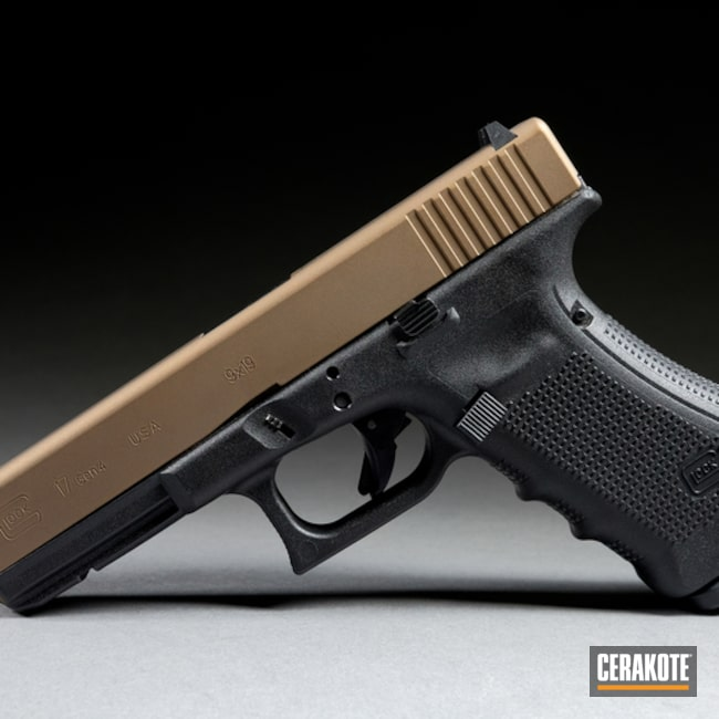 "Thumbnail image for project ""Glock 17 with Cerakote H-148 Burnt Bronze"""