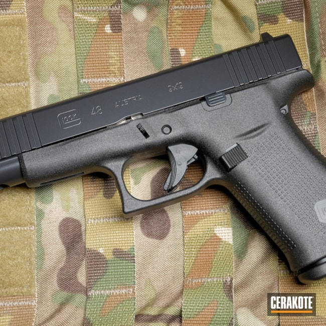 "Thumbnail image for project ""Glock 48 Slide Cerakoted in E-100 Blackout"""