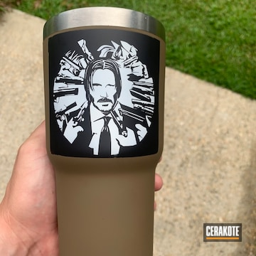 Cerakoted John Wick Themed Rtic Tumbler