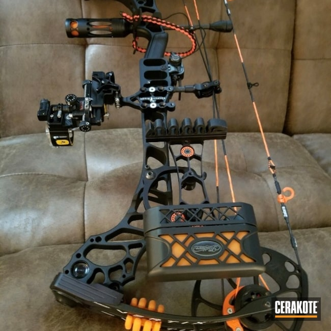 Cerakoted: Compound Bow,Hunter Orange C-128,More Than Guns,Bow Parts