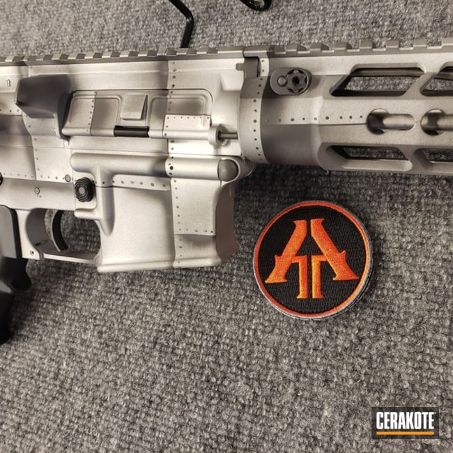 Cerakoted: Rifle,Aircraft,Rivets,Anderson Mfg.,Graphite Black H-146,Two Tone,Tactical Rifle,Satin Aluminum H-151,5.56,AR-15