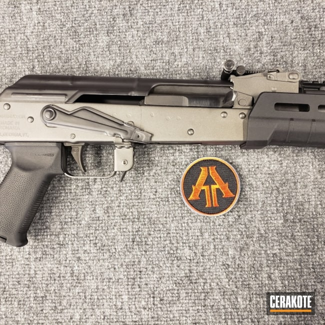 Cerakoted: Rifle,MagPul,Graphite Black H-146,Two Tone,Gun Metal Grey H-219,Tactical Rifle,AK-47,AK Rifle,7.62x39mm