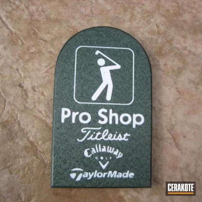 Cerakoted: Weatherproof,Snow White H-136,Golf,Sign,Graphite Black H-146,Custom Sign,More Than Guns,Golf Course,Advertising