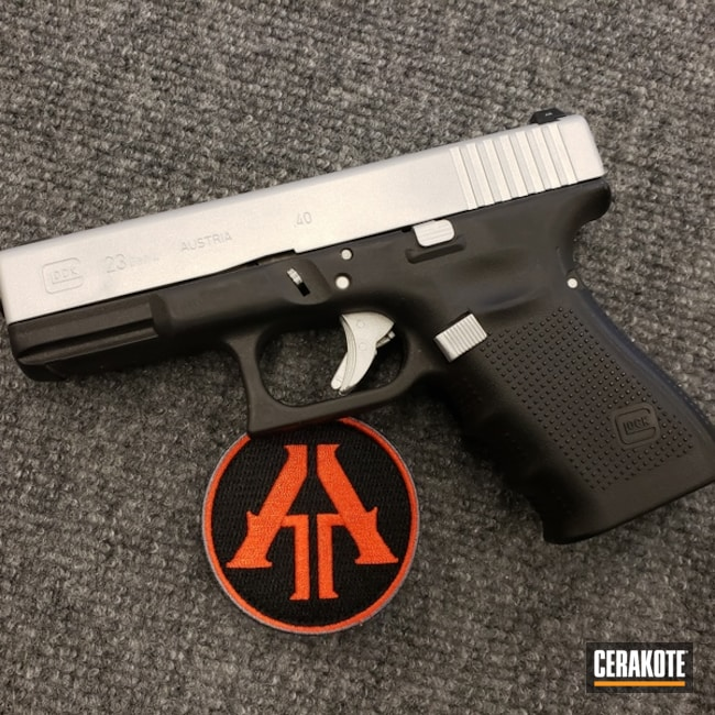 "Thumbnail image for project ""Glock 23 Handgun with a Satin Aluminum Cerakote Slide"""