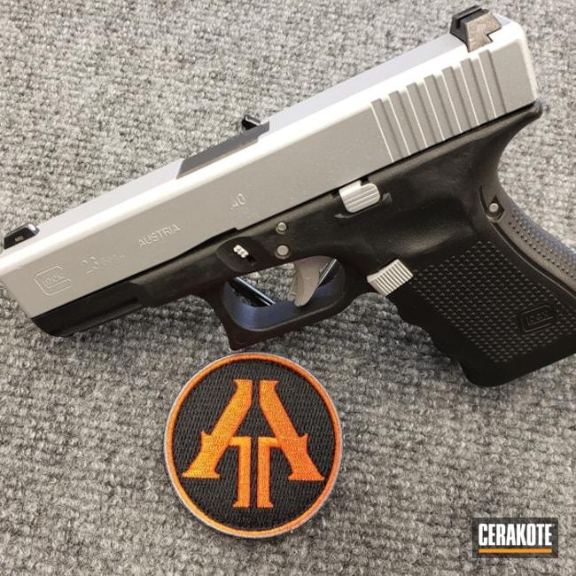 Cerakoted: Satin Aluminum H-151,Pistol,Glock,Glock 23,Handguns,.40,40cal