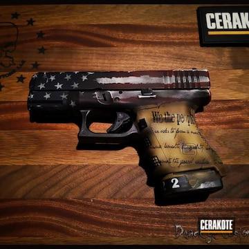 Cerakoted Customized Glock Handgun And Patriotic Finish