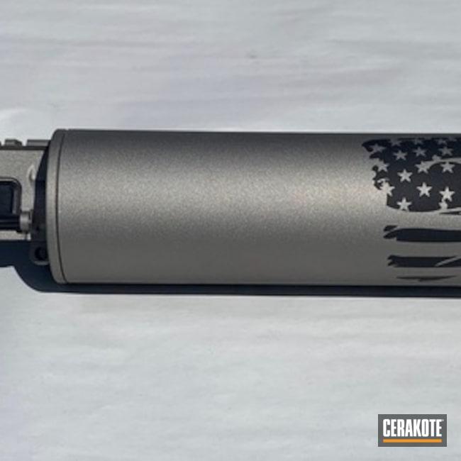 Cerakoted: Upper Receiver,Gun Metal Grey H-219,American Flag