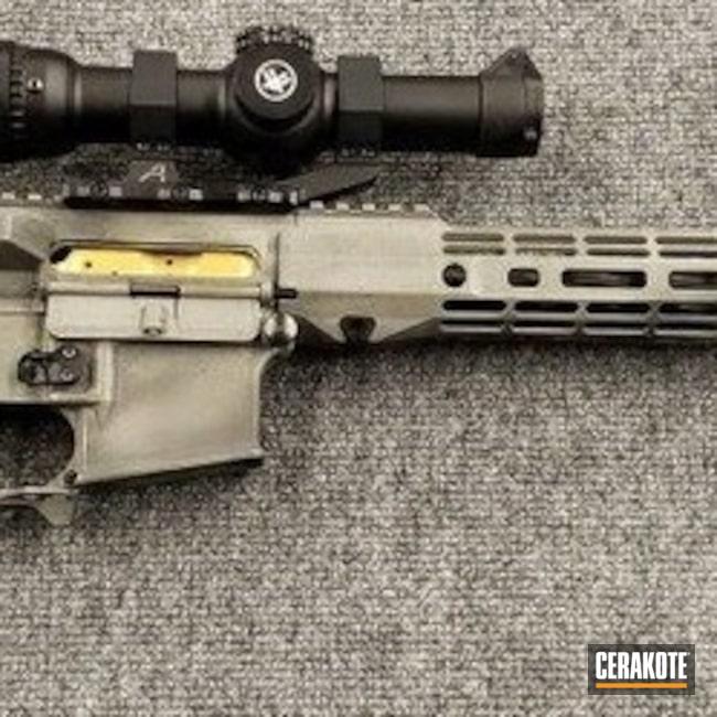 Cerakoted: Rifle,Graphite Black H-146,Distressed,Tactical Rifle,5.56,MAGPUL® FOLIAGE GREEN H-231,AR-15
